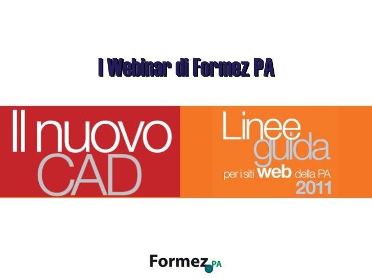 I Webinar di Formez PA