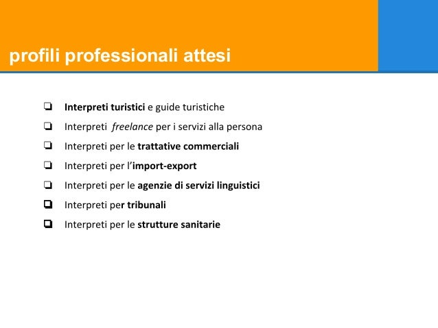 profili professionali attesi ❏ ❏ ❏ ❏ ❏ ❏ ❏