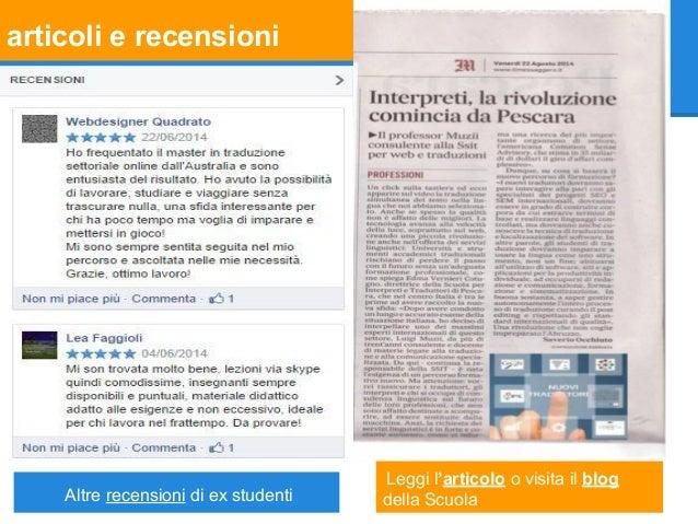 articoli e recensioni Altre recensioni di ex studenti Leggi l'articolo o visita il blog della Scuola