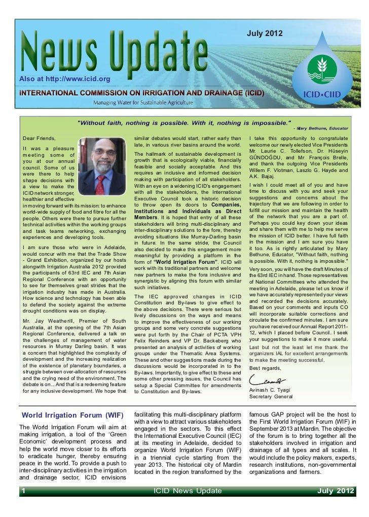 July 2012Also at http://www.icid.org Dear Friends,                                     similar debates would start, rather...