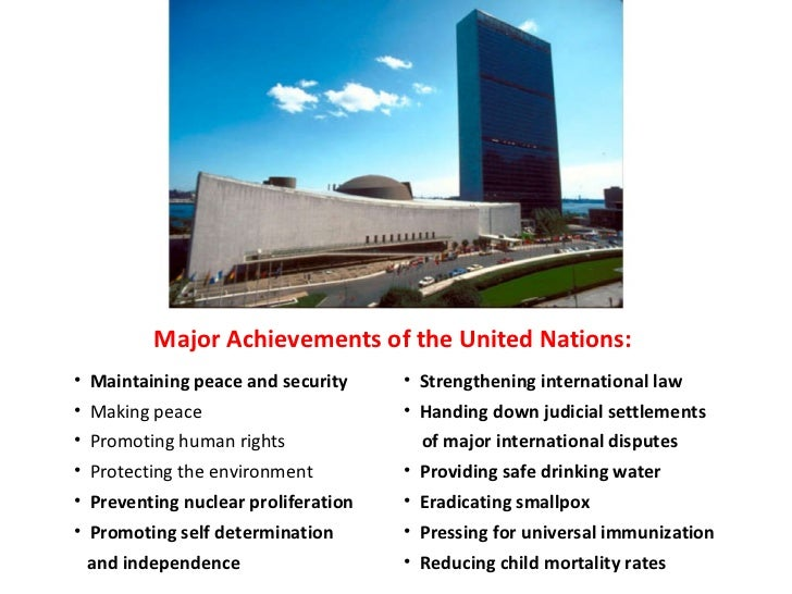 SUCCESSES OF THE UNITED NATIONS PDF