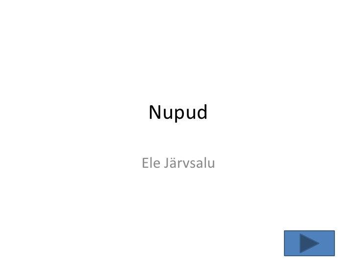 Nupud  Ele Järvsalu