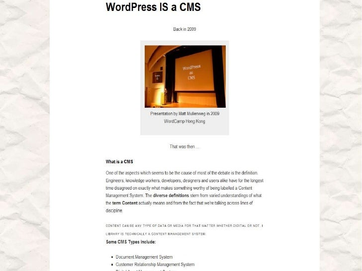 WordPress as a CMS – Why and How