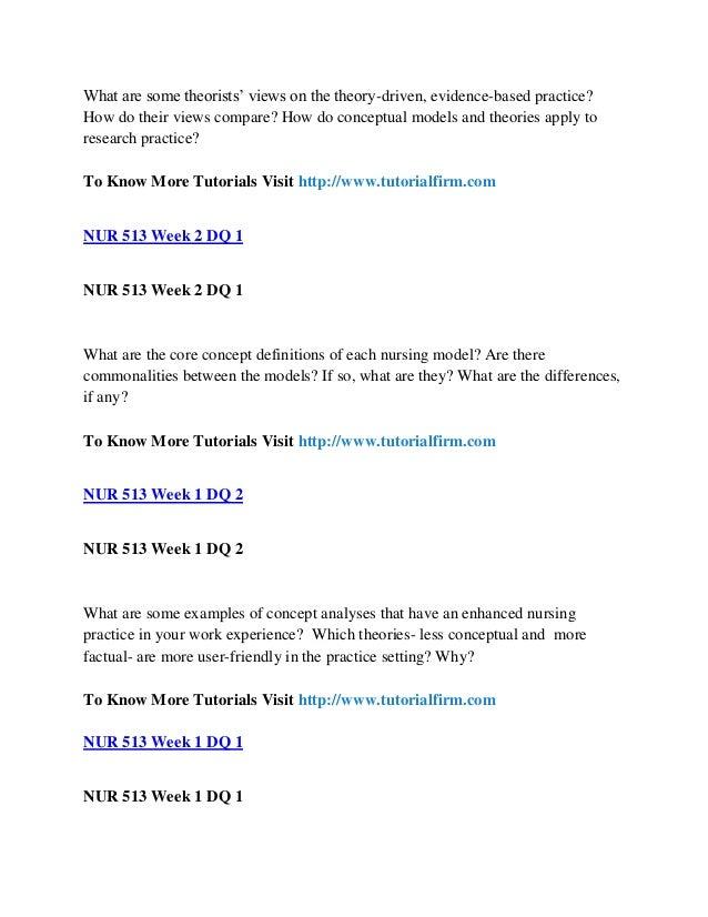 nur 513 Download here nur 513 theoretical foundation of practice week 1 nur 513 week 1, discussion question 1, 2, 3 week 2 nur 513 week 2, assignment, historical development.
