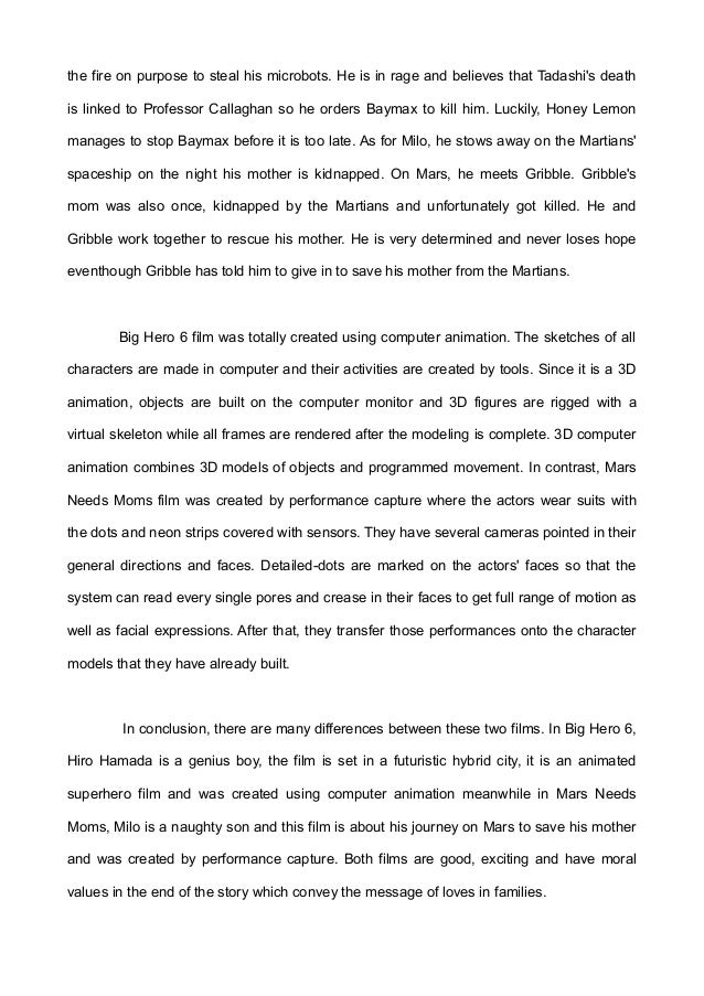 big hero 6 essay