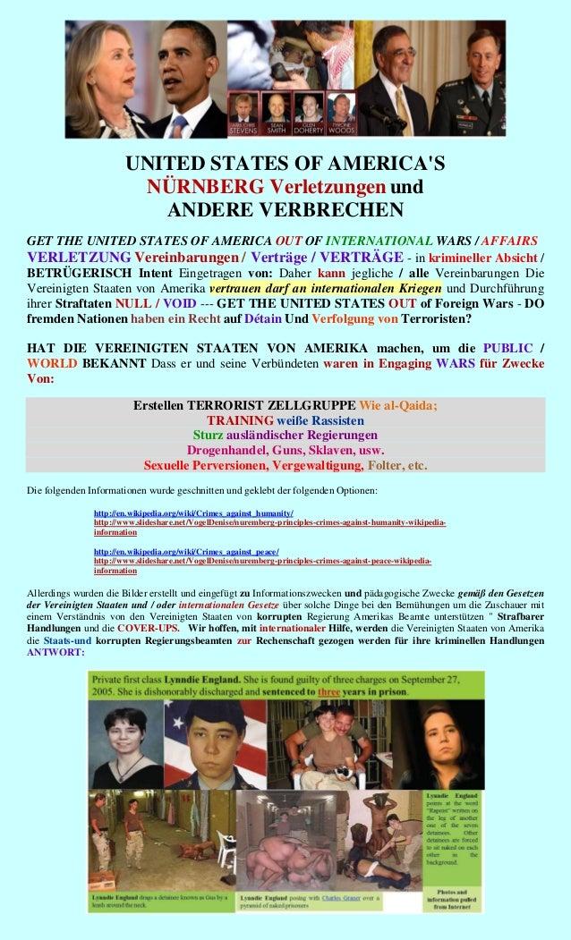 UNITED STATES OF AMERICAS                        NÜRNBERG Verletzungen und                          ANDERE VERBRECHENGET T...