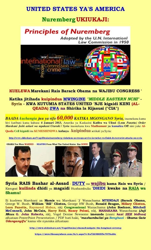UNITED STATES YAS AMERICA                                 Nuremberg UKIUKAJI:  KUELEWA Marekani Rais Barack Obama na WAJIB...