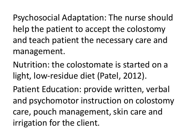 care for patient undergoing a ileostomy nursing essay Essays on betadine bath and post operative infection nursing the knowledge that the patient is properly taken care nursing colostomy and ileostomy are.