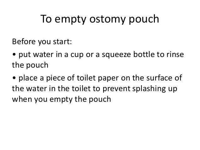 Riksack Ostomy Bag Starter Kit For Emptying And Changing A Stoma Pouch