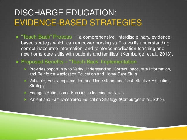Hospital Discharge Teaching