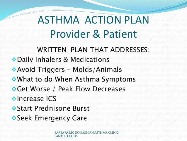 Nurse  Power Point Project A Plan To Improve Asthma Care
