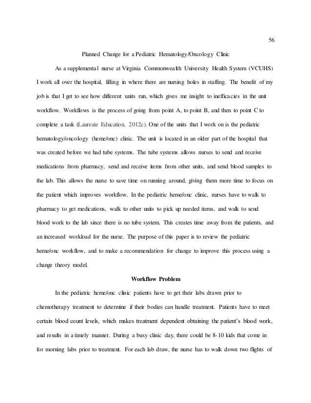 change theory paper nursing