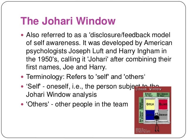 ingham and luft s johari window Essays - largest database of quality sample essays and research papers on ingham and luft s johari window.