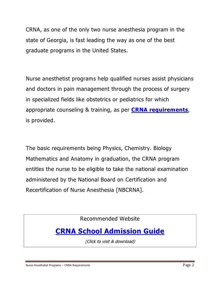 CRNA School Admissions The Cold Hard Facts CRNA Career Pro