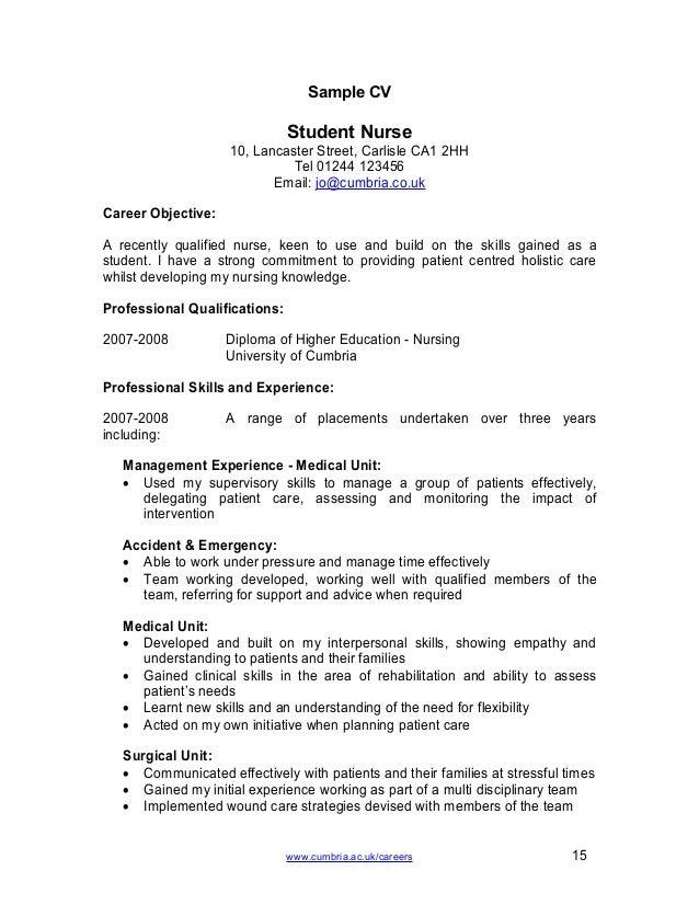 Nursing Cv Template Ireland - Nursing Cv Template Practice ...