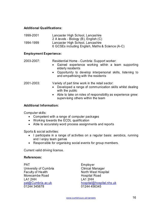 nurse cv template - Nursing Cv Samples