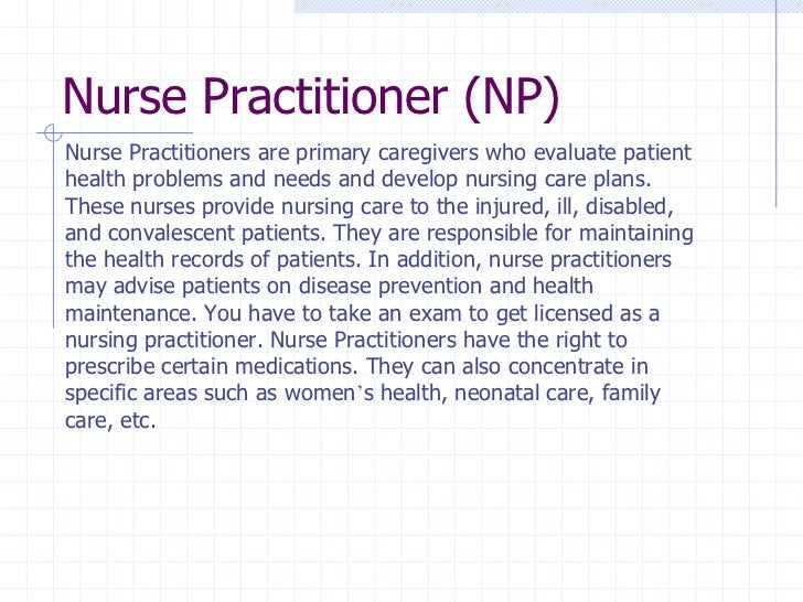 Registered Nurses Description