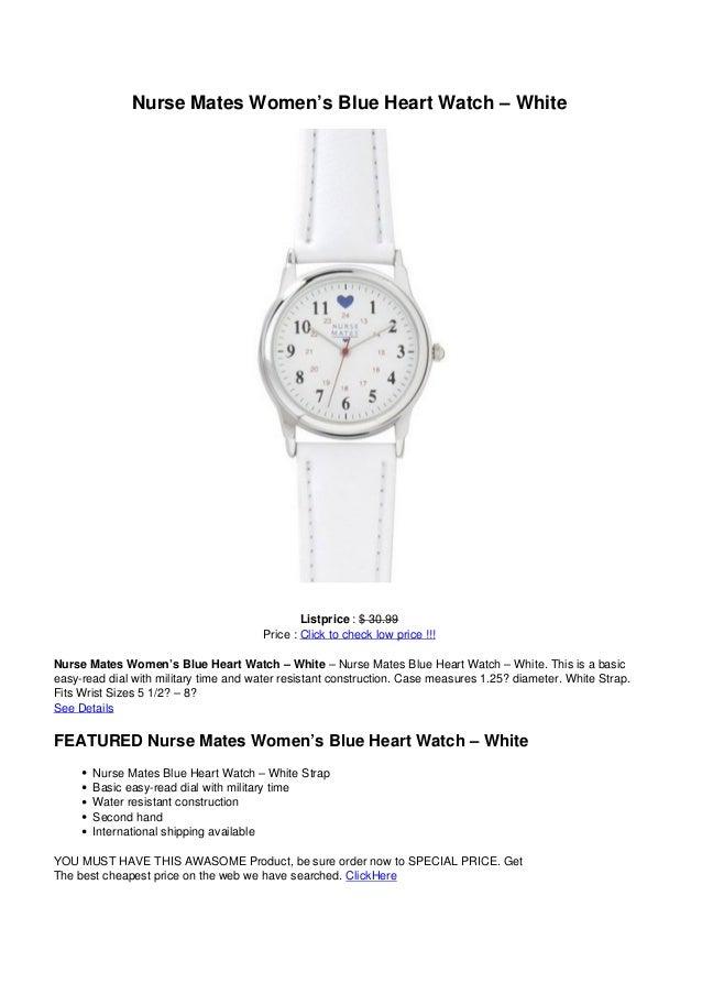 Nurse Mates Women's Blue Heart Watch – WhiteListprice : $ 30.99Price : Click to check low price !!!Nurse Mates Women's Blu...