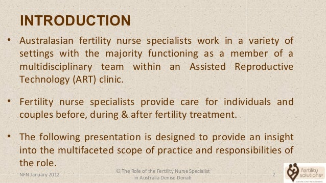 Nurses Webinar - Role of Fertility Nurse Slide 2
