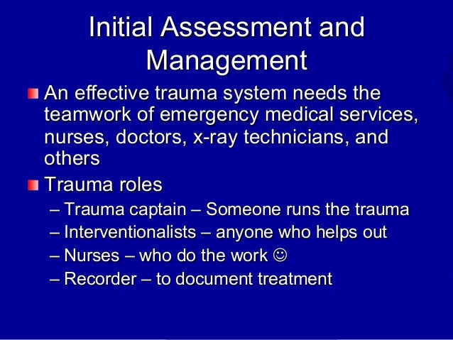 nurses role in the initial assessment Defining assessment and the importance of assessment nursing essay  the nurse-patient relationship should be started from the initial assessment.