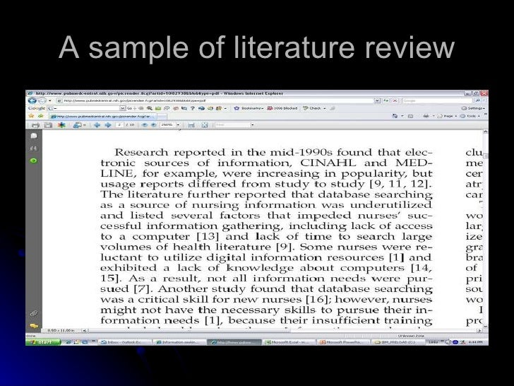 writing a literature review search strategy for online