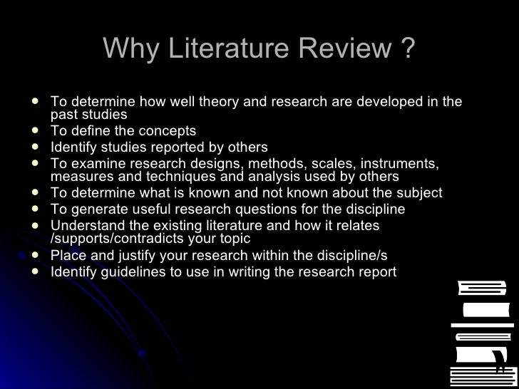 literature review and research paper This research guide from st leo university discusses the literature review process in great detail sample literature review paper resources gianoli: treatment for comorbid borderline personality disorder and alcohol use disorders: a review of the evidence and future recommendations.