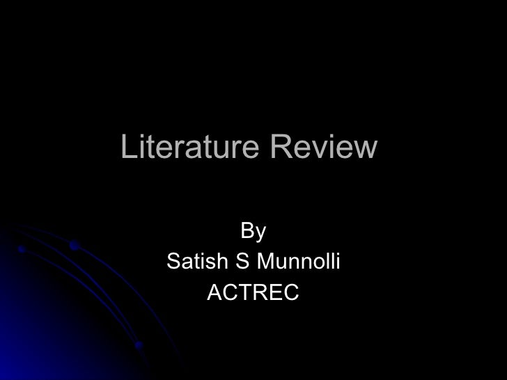 Where can i buy a literature review