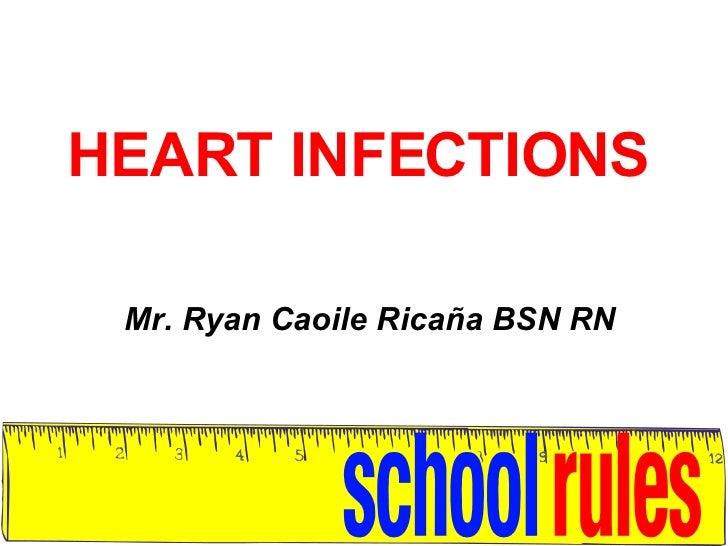 HEART INFECTIONS Mr. Ryan Caoile Ricaña BSN RN