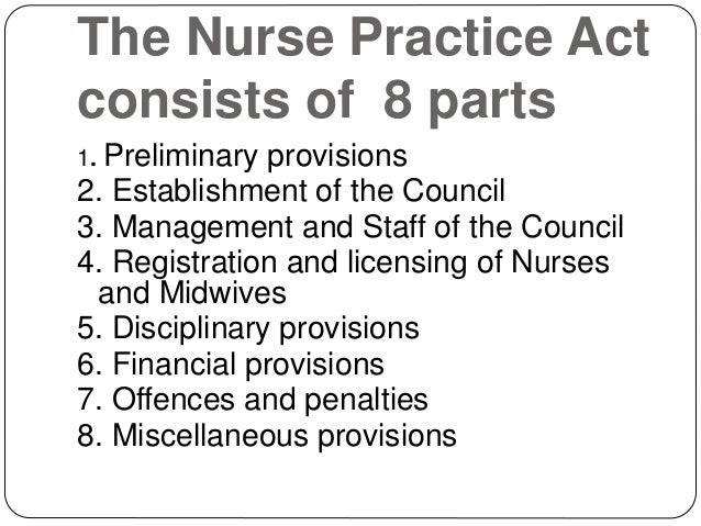 nurse act Act sheet fiche information  college can use the titles of nurse, registered nurse, legislation and regulation an introduction to the nursing act, 1991.