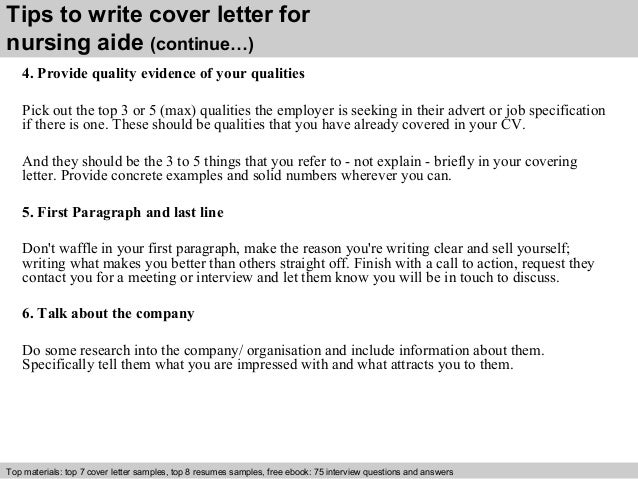 ... 4. Tips To Write Cover Letter For Nursing Aide ...