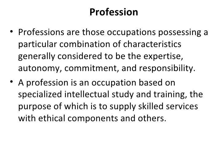 characteristics of nursing profession ppt Nursing as a profession