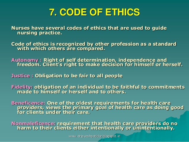 codes of ethics in health care essay