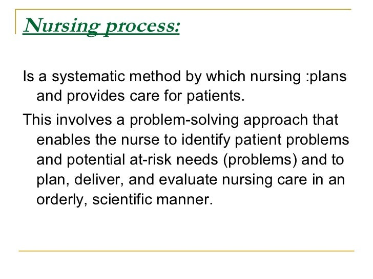 systematic approach in nursing Used when discussing nursing research with non-nurses who are unfamiliar with  what  this systematic approach, although highly desir- able, further muddies.