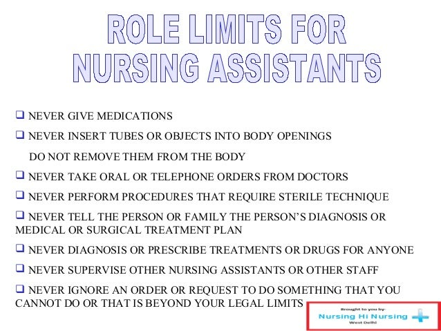 what are the duties of a nursing assistant