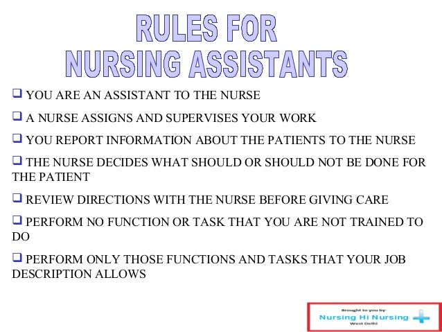 Job Duties Of Cna