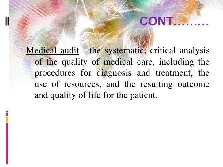 Nursing audit Slide 3