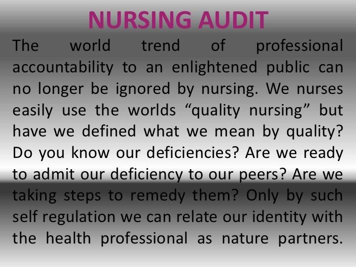 Nursing audit Slide 2
