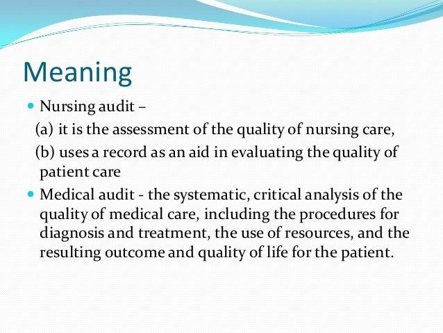 Nursing audit – Nurse Auditor