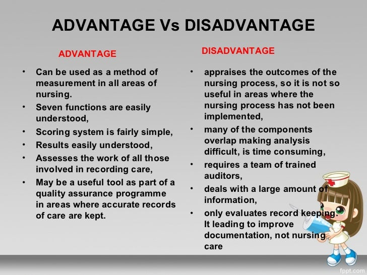 team nursing advantages and disadvantages The advantages and disadvantages of medical/nursing research and identify associated dilemmas, analyze the history of ethics and research, and identify are.