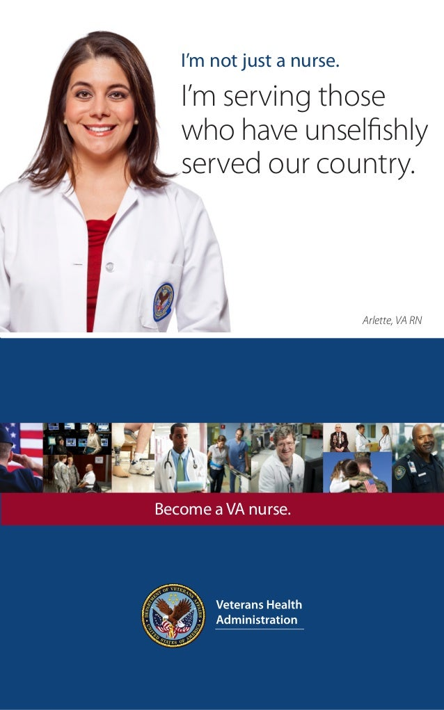 I'm not just a nurse.   I'm serving those   who have unselfishly   served our country.                           Arlette, ...
