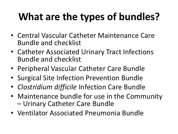 superbugs and bundles of care <br > 13