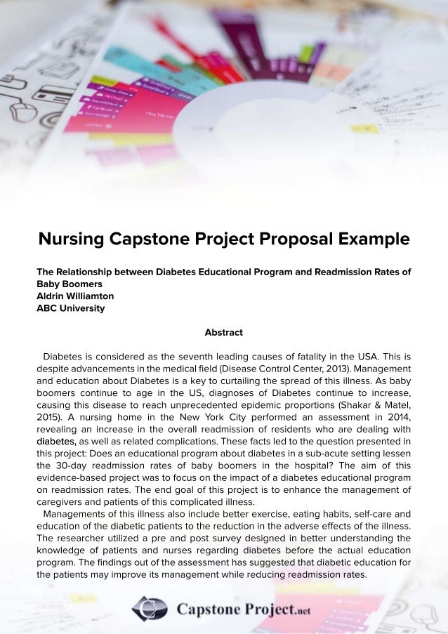 nursing capstone project proposal example