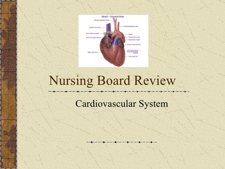 Nursing Board Review Cardiovascular System