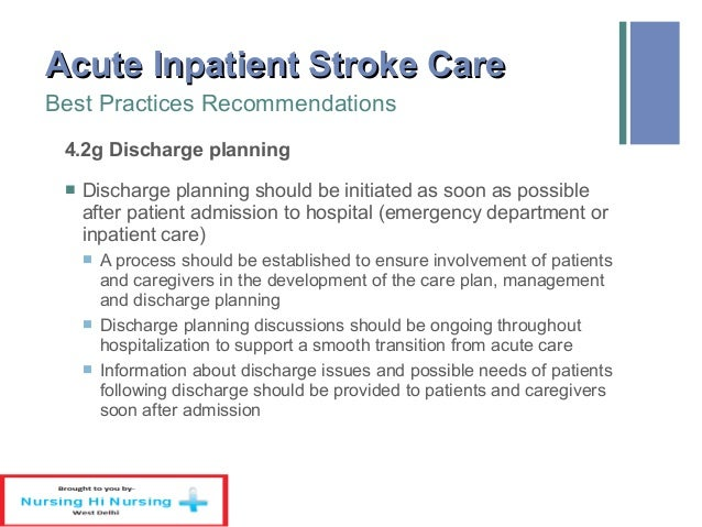 example of a care plan for stroke patient