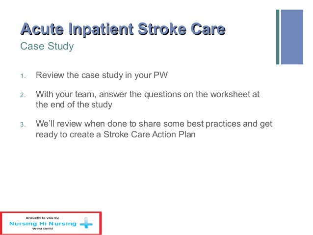 Stroke - Case Study Essay Example for Free - Sample 2543 words