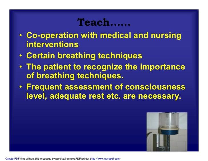 Nursing care in mechanical ventilation