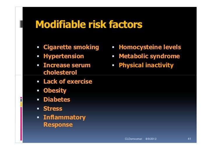 modifiable risk factors of coronary heart disease