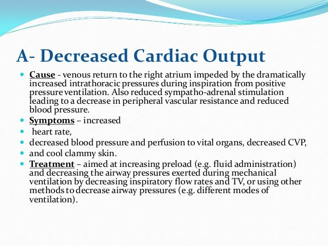Signs Of Low Transmission Fluid >> Nursing Care of Ventilated Patient