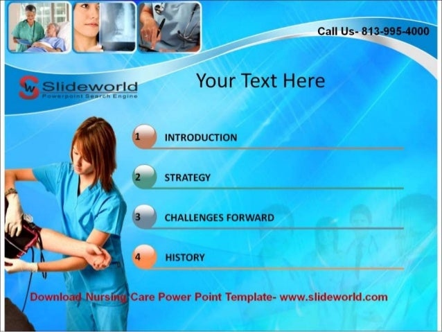 nursing care powerpoint templates, Modern powerpoint