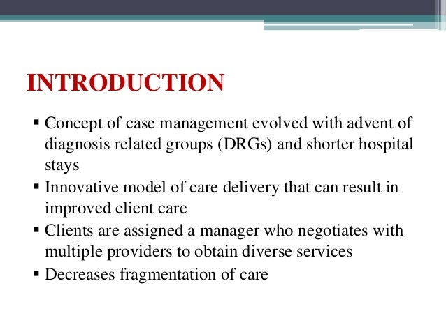 Nursing Case Management And Critical Pathways Of Care